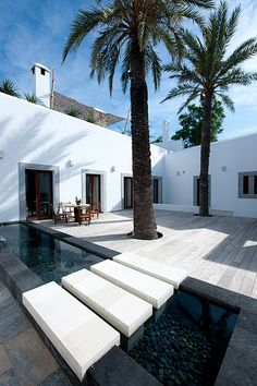 courtyard in Ibiza