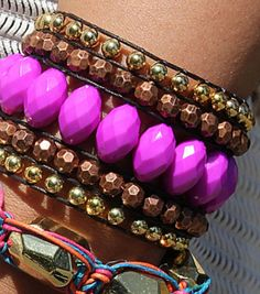 #DIY Acrylic Wide Woven Cuff Bracelet | Directions available on Joann.com