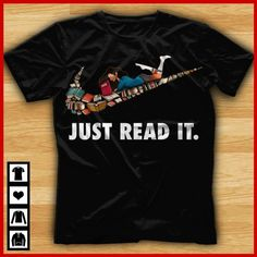 High quality unique weird shirts with amazing design Ideas that you will love. Book Shirts, T Shirts, Quote Shirts, Custom T Shirt Printing, Custom Shirts, Teacher Shirts, Fangirl, Book Nerd, Look Cool