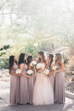 Classic Mauve and Gold Arizona Wedding - MODwedding