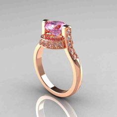 Light Pink Diamond Engagement Rings