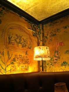 Bemelmans Bar, murals of the artist's storybook character Madeline. Carlyle Hotel Upper East Side. NYC