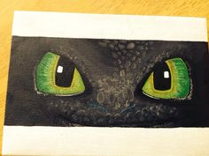 Toothless Nightfury eyes How to Train your Dragon mini acrylic canvas