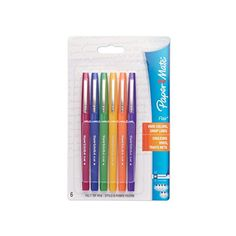 Paper Mate Flair Porous-Point Felt Tip Pen, Medium Tip, 6-Pack, Fashion Colors (61390) Paper Mate http://www.amazon.com/dp/B004YHU1L8/ref=cm_sw_r_pi_dp_xB3Wwb1RKCRAQ
