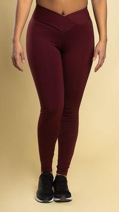 Boombody V-waist leggingsit tummanpunainen Pants, Fashion, Trouser Pants, Moda, Fashion Styles, Women's Pants, Women Pants, Fashion Illustrations, Trousers