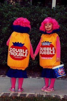 dubbl bubbl, twin costumes, doubl bubbl, bubbl troubl, funny halloween costumes, bubbles, costum idea, doubl troubl, funny kid halloween costumes