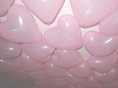 pink, balloons, and heart 이미지