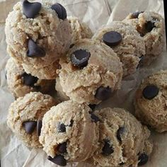 Ready-To-Eat Raw Chocolate Chip Cookie Dough Bites   Clean Food Crush