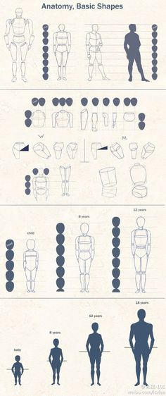 Anatomy basic shapes - most people know of these simple drawing rules... But when you are having fun drawing you somehow ignore them, or maybe thats just me? Anyways, i beleive using them more consistently would improve my drawings a lot!