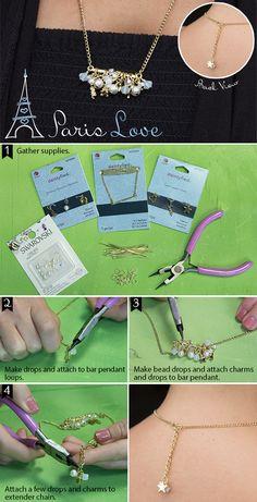 Paris Love Dainty DIY Necklace