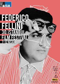 Director Art posters for the Istanbul International Film Festival - Federico Fellini