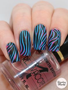 coolest zebra nails i've ever seen Beautiful Nail Designs, Beautiful Nail Art, Cool Nail Designs, Zebra Nail Art, Zebra Print Nails, Fabulous Nails, Gorgeous Nails, Amazing Nails, Hair And Nails