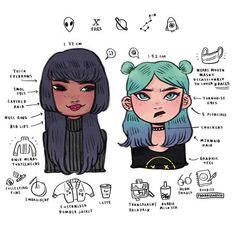 my #spacegirls are dorks ‍ ( might post less because of school cries but I really want to draw them more ) ••• #illustration #oc #girls #drawing #art #infographic