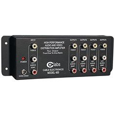 1 Input, 4 Output Distribution Amps Composite Video & Stereo Audio No Signal Loss