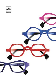 Bold and funky aluminum frames by Theo