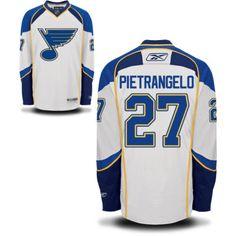 St. Louis Blues 27 Alex Pietrangelo Road Jersey - White 3a36285f7