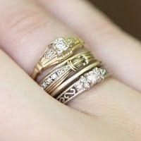 rings rings rings! I love stacked rings!!