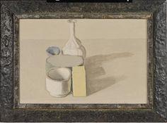 """Giorgio Morandi Natura Morta, 1953 oil 11 3/4 x 17 1/4 in. (29.8 x 43.8 cm) Signed """"Morandi"""""""
