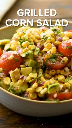 Corn Salad is the perfect quick, easy and healthy salad for summer! It makes a great side dish recipe for bringing to summer parties or if you are entertaining during the summer. Tons of flavor from grilled corn, avocados, tomatoes, and a delicious Cookout Side Dishes, Cookout Food, Summer Side Dishes, Vegetable Side Dishes, Side Dishes For Fajitas, Side Dishes With Burgers, Side Dishes For Brisket, Summer Vegetable Recipes, Gourmet