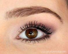 VIDEO: How to Make Brown Eyes Pop - Makeup Tutorial for Brown Eyes http://www.youtube.com/watch?v=z5Bk_JvHCE8 | purple eye makeup enhance brown eyes
