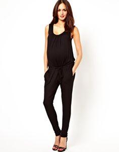 Mamalicious Jersey Jumpsuit. Awesome maternity jumpsuit!