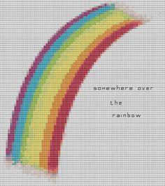 Cross Stitch Pattern Somewhere Over The Rainbow PDF - Cute Cross Stitch on Etsy, £2.50
