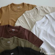 Basic Outfits, Casual Outfits, Uniqlo U, Waffle Shirt, Gay Outfit, Dress Indian Style, Minimal Fashion, Aesthetic Fashion, Mens Tees
