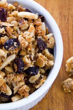 Cranberry Walnut Paleo Granola Recipe - gluten free, grain free and refined sugar free!   cookeatpaleo.com