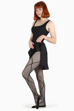Let your pins shine in this fine fishnet-style hosiery, contrasted with an oversized diamond pattern that adds that little somethin' extra to your look. We love these paired with your fave, most badass BM dresses, skirts or shorts, topped off with kil Nylons, In Pantyhose, Pantyhose Lovers, Fishnet Tights, Black Milk Clothing, Piece Of Clothing, Full Support Bras, Bodysuit, Patterned Tights