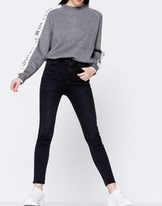 Jeans skinny fit rotos - Jeans - Ropa - Mujer - PULL&BEAR España