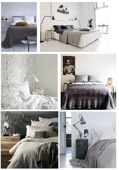 Relaxed bedrooms in shades of grey