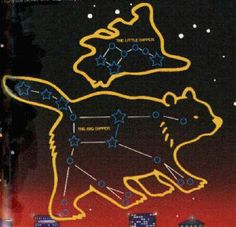 The Big & Little Dippers within the constellations Ursa Major & Ursa Minor