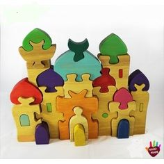 FairTrade and HandMade 3D Mosque Puzzle. Lay it flat or stand it up for an extra challenge! Available at www.EasternToybox.ca