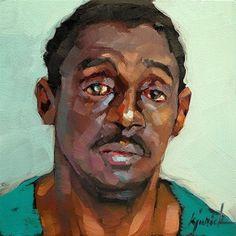 """""""200 Faces, No. 122"""" - Original Fine Art for Sale - © Karin Jurick"""