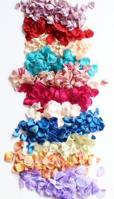 Beautiful freeze dried and silk rose petals for your DIY wedding! #afloral