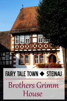 Fairy tale town - Steinau.  Brothers Grimm House museum.  Germany travel.