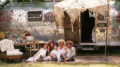 "The Bohemian, shabby-chic, super-cool ladies behind the ""Magnolia Pearl"" Airstream trailer. (Ahhh, my dream-life!)"