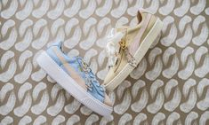 promo code eef00 f644d Puma x Sophia Webster Leadcat Glitter Princess (pink) in 2018  My type of  style.  Pinterest  Pink orchids, Puma sandals and Girls sneakers
