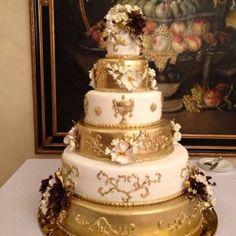 Свадебный торт Золотой слиток