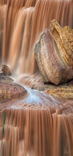 Chocolate Falls - A close up for Grand Falls In Arizona, often called chocolate falls for good reason. Grand Falls is a natural waterfall system located 30 miles northeast of Flagstaff, Arizona in the Painted Desert on the Navajo Indian Reservation. At 185 feet tall it is taller than Niagara Falls.