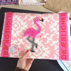 Pink parcel on it's way to Holland. I keep the fragile flamingo at home though. So much fun to have around in my studio If you wanna join next #instaswap (fall edition 2015) please follow founder @lyndahome or sign up for the news letter on instaswap.nl - there is a Dutch and international version Pink overraskelser på vej til Holland, flamingoen hygger jeg mig dog med - totalt spas med pink flamingoer omkring mig i krearummet #perleplade #hamabeads #pinkflamingo