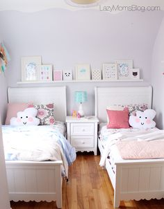 Pastel shared bedroom