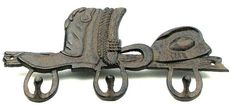 Cast Iron Cowboy Boot Hook-Set Of 2