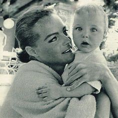 This photo is so sweet that I had to post it. (Romy Schneider with her son David)