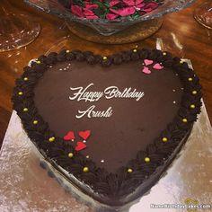 Best Chocolate Heart Birthday Cake With Name Heart Birthday Cake, Birthday Wishes With Name, Happy Birthday Cake Photo, Happy Birthday Sarah, Happy Birthday Cake Pictures, Birthday Wishes Cake, Beautiful Birthday Cakes, Cool Birthday Cakes, Birthday Cake Girls