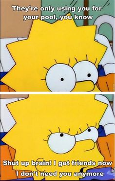 Lisa Simpson Cartoon Memes, Cartoon Shows, Funny Cartoons, Simpsons Funny, Simpsons Quotes, Santa's Little Helper, Popular Quotes, Futurama, Funny Pictures