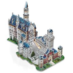 "Wrebbit 3D - Neuschwanstein Castle.  Create your own fairytale!  Dubbed ""the castle of the fairytale king,"" Neuschwanstein is Germany's most visited castle. Build it with your family, and enjoy it happily ever after...  #NeuschwansteinCastle #Germany #Castle #Architecture #Building #3D #Puzzle"