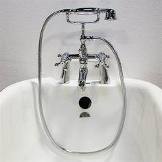 Acri-tec Industries 82011 Cross Handle Deck Mount Tub Faucet