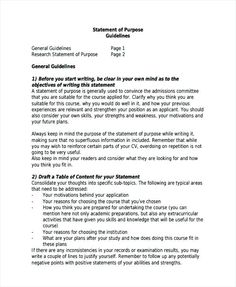 letter of purpose for graduate school