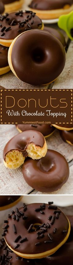 Donuts With Chocolate Topping - Very easy, fantastic, quick, perfectly soft and their smell and taste are incredible